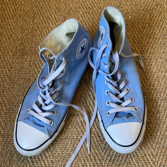 Men's light blue Chuck Taylor high top Converse